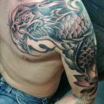 chinese vuurdraak tatoeage