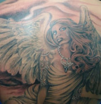 crying angel tattoo by Dutchink
