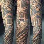 maori sleeve vanaf drie kanten bekeken