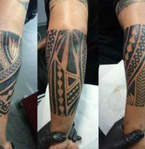 Maori tattoo op de onderarm