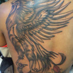 Grote black and grey phoenix
