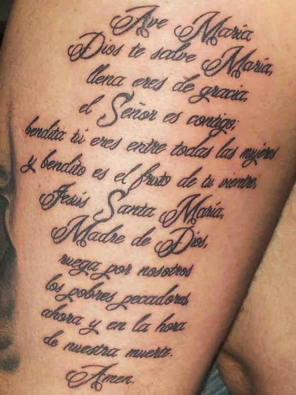Geliefde Teksten tattoo laten zetten? Lees de betekenis, info en tips! @SP02