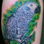 vrolijk gekleurde papegaai tatoeage by Dutchink
