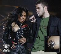 Tepelpiercing van Janet Jackson