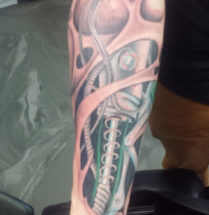 Biomechanische 3D-tattoo
