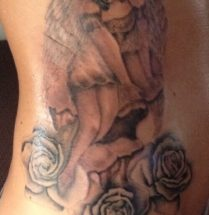 Engel met rozen