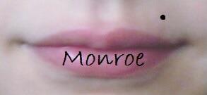 lip piercing, monroe