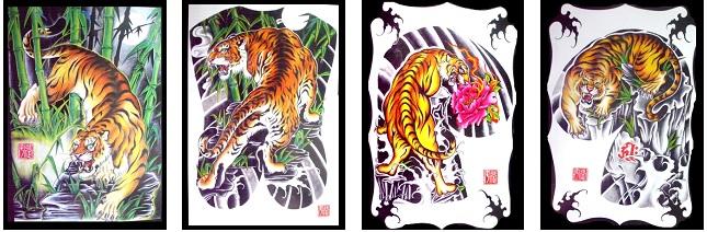 tijger tattoos met achtergrond