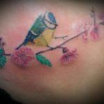 Vogel met bloemen