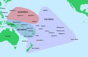 Pacific eilanden weergeven op een kaart