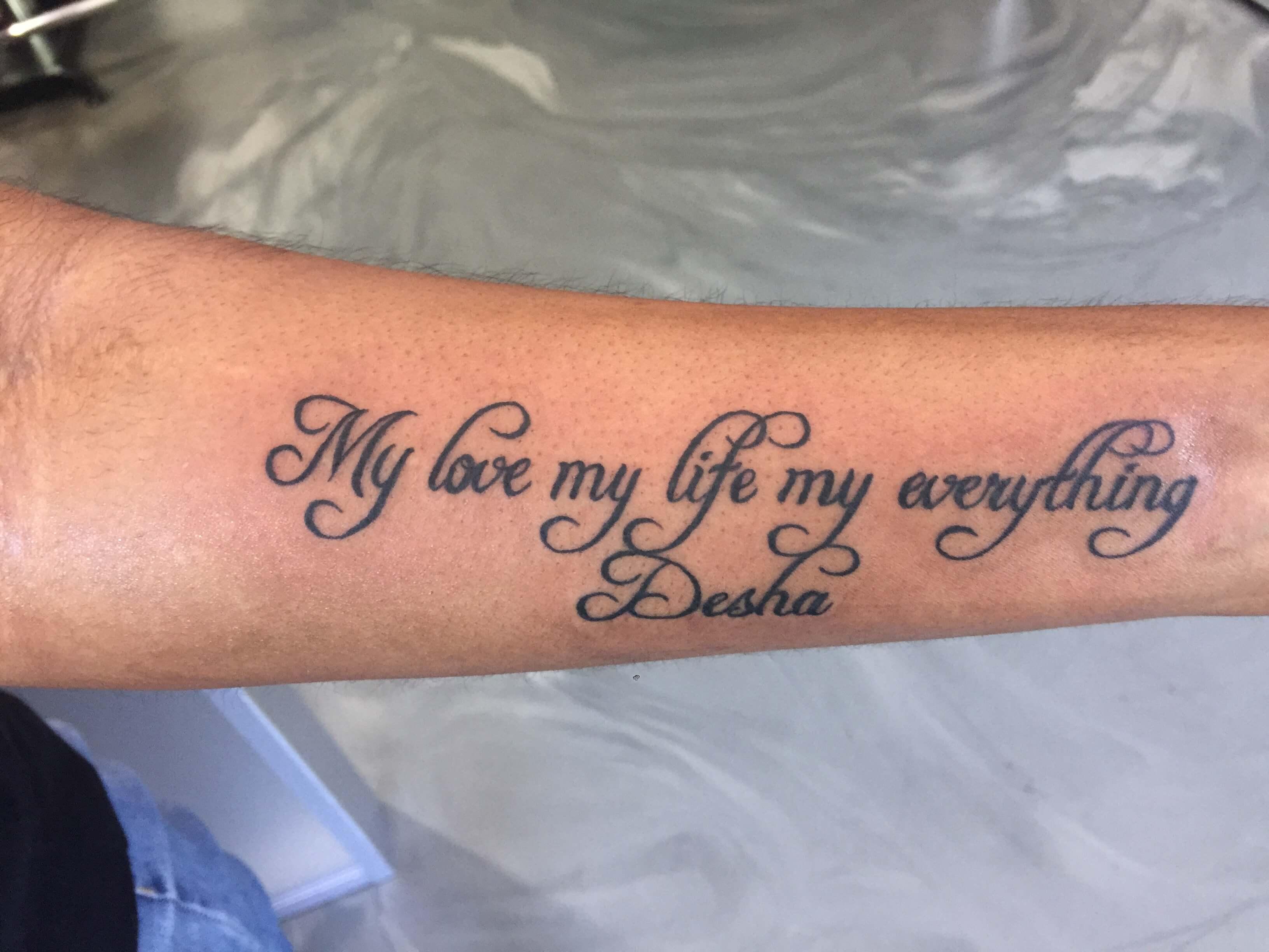 Tattoo Liefdes Teksten Engels