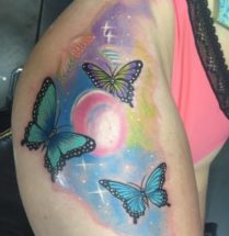 Vlinders op bovenbeen