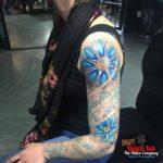 Lotus bloemen sleeve op arm