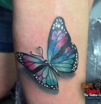 Vlinder op arm