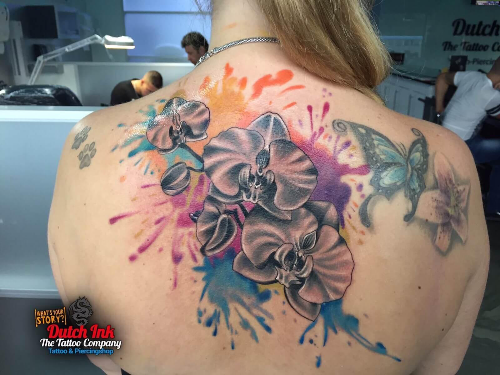 Felle kleuren tattoo voorbeelden laat je inspireren door dutch ink - Felle kleuren ...