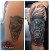 Panter cover up op bovenarm