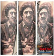 Pablo Escobar op onderarm