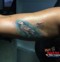 Vogeltje op bovenarm
