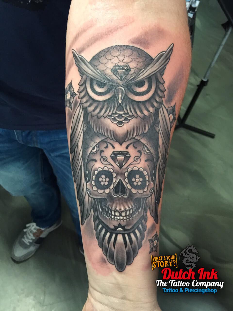 Tattoo Uil Doodskop Betekenis Tatoeëren