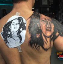 Portret op schouder