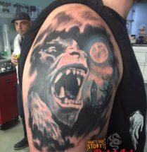 Monster op bovenarm