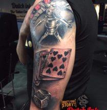 Casino sleeve op bovenarm