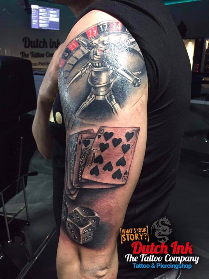Casino tattoo sleeves