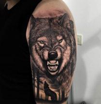 Wolf op bovenarm