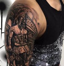Gladiatoren op bovenarm