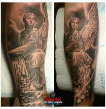 Engel op onderarm