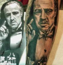 The Godfather portret op onderarm