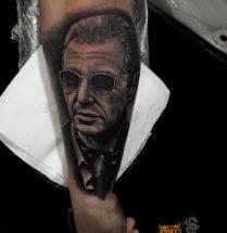 Portret op onderarm