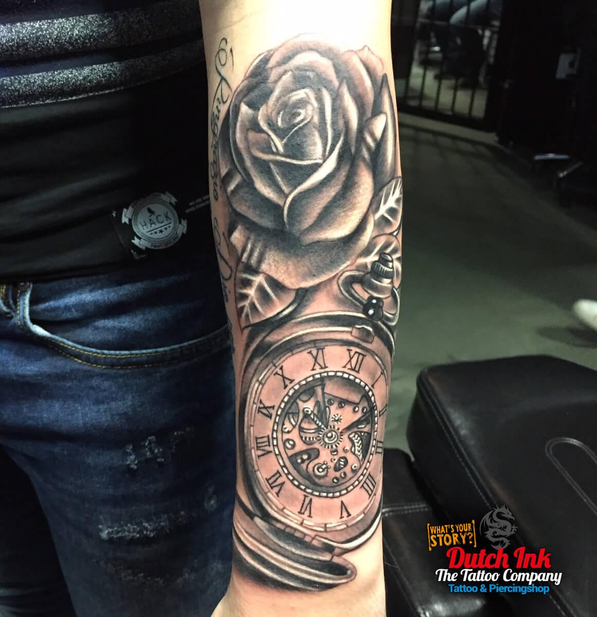 Geliefde Klok tattoo voorbeelden, laat je inspireren door Dutch Ink! @RU54