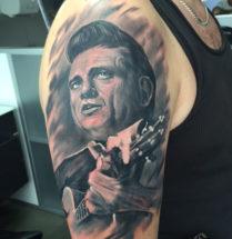 Portret op bovenarm