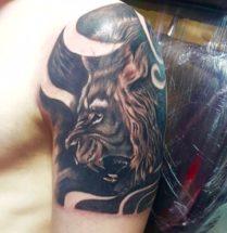Leeuw op bovenarm