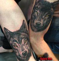 Wolf op arm en been