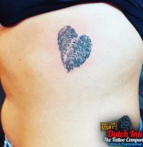 Fingerprint hart op zij