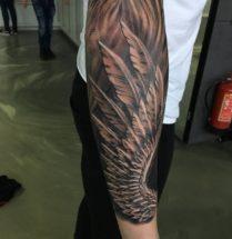 Veren op onderarm