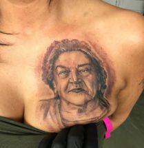 Portret op borst